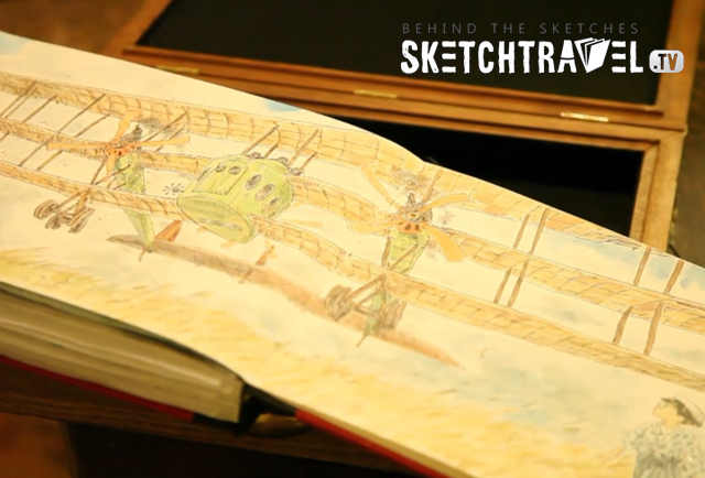 Behind the sketches Sketchtravel.tv