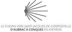 Le chemin vers saint Jacques-de-Compostelle d'Aubrac à Conques en Aveyron