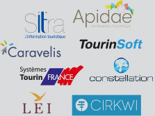 SIT : Sitra, Apidae, Caravelis, TourinSoft, Systèmes TourinFrance, constellation, LEI, Cirkwi
